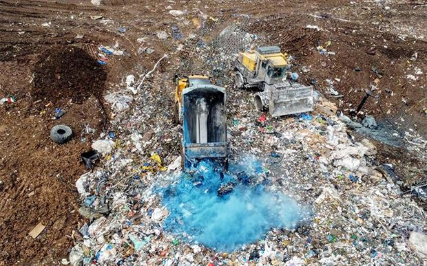 Walleys Quarry landfill. Photograph: Stop the Stink