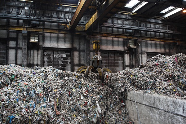 Waste stored at treatment site
