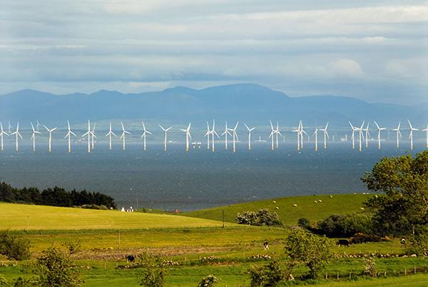 Offshore wind farm in Scotland