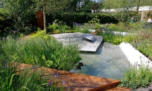 Hugo Bugg's gold medal-winning RBC Waterscape Garden built by Landscape Associates.Pic: HW