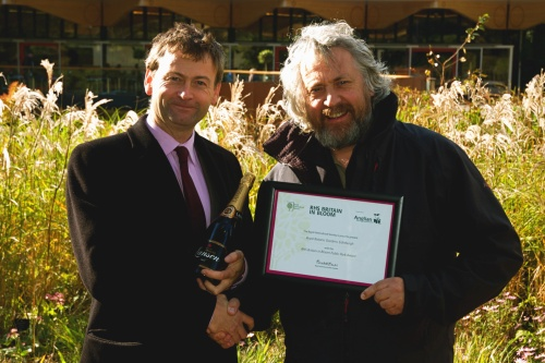 RBGE's David Knott receives the Public Park Award from Edinburgh's head of parks & greenspace David Jamieson - image:RBGE