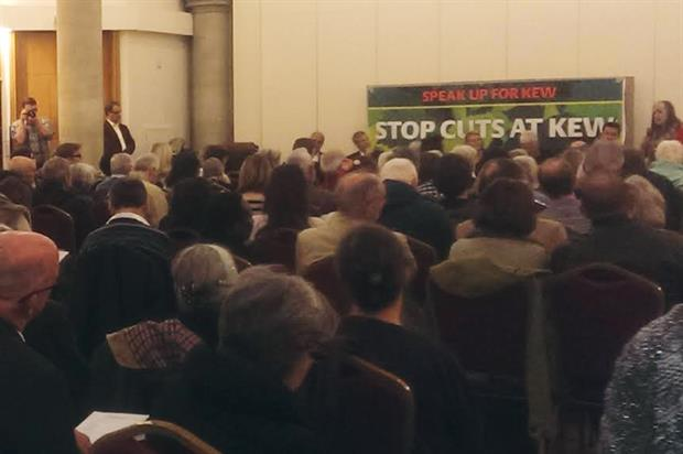 Speak Up for Kew: public meeting attended by staff and supporters