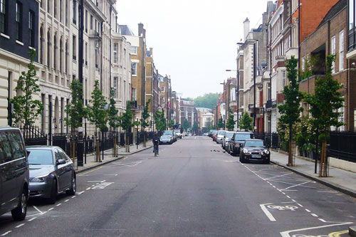 Street trees: guidance document encourages sustainable irrigation - image: Weymouth Street