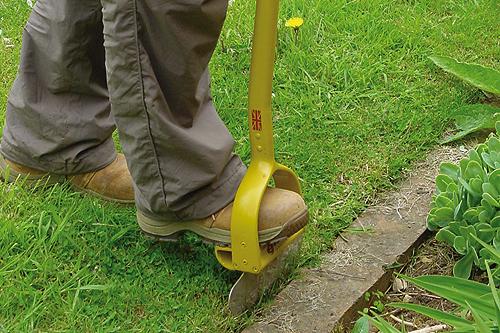 Eazi-Edger kit range utilises cast aluminium stirrup foot hole with slip resistant grip - image: HW