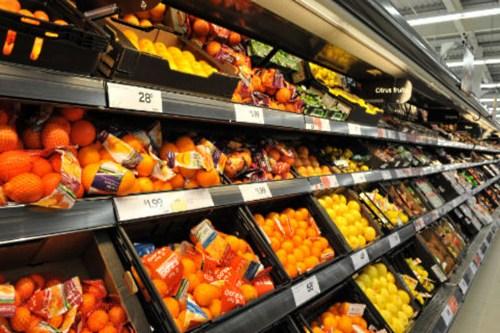 Fresh produce aisle - image:Sainsbury's