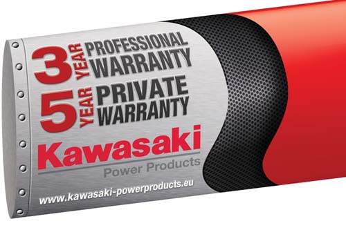 Kawasaki has extended the warranty period for all of its horticultural power products- image: Kawasaki