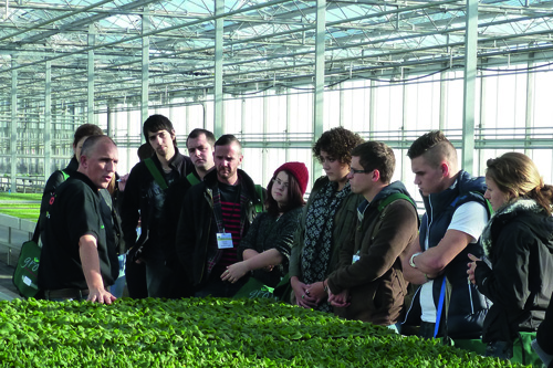 Students toured Roundstone Nurseries