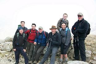 Some of the Three Peaks Challenge team Pic: HW
