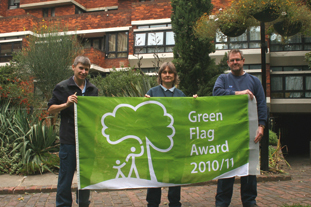 (L-R) Beran, Weller and Myers-part of the in-house gardening team at Lillington & Longmoore Gardens Estate - image: HW