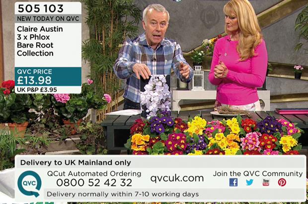 Jackson: demonstrates gardening products to 30,000 potential customers in six-minute slots on QVC