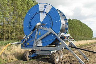 On the spot: the hose reel remains at the heart of most irrigation systems in the UK. Photo: Briggs Irrigation