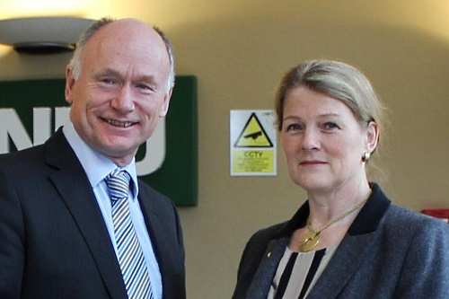 Christine Tacon with NFU Director General Andy Robertson - image:NFU