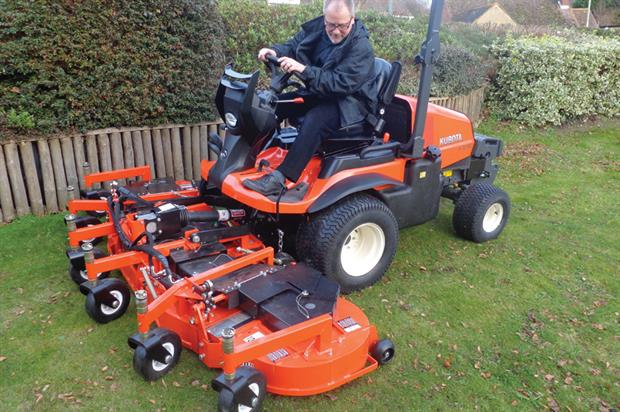Out-front mower: Kubota F3890 with 37.3hp diesel engine will feature among machinery displayed by Lister Wilder - image: Lister Wilder