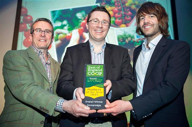 Award: Cornerways Nursery staff collect producer of the year prize - image: © Anglia Picture Agency