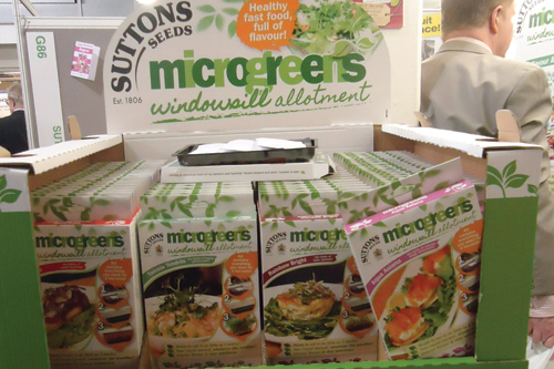 Microgreens: growing kits available from Suttons Seeds - image: HW
