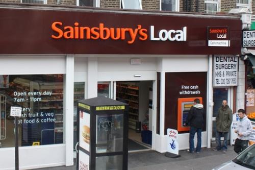 Sainsbury's convenience store - image:quitepeculiar