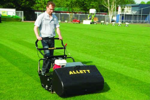 Allett C-34 has improved cutting unit visibility - image: Allett Mowers