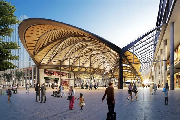 The concept design for Euston Station in London. Image: Department of Transport