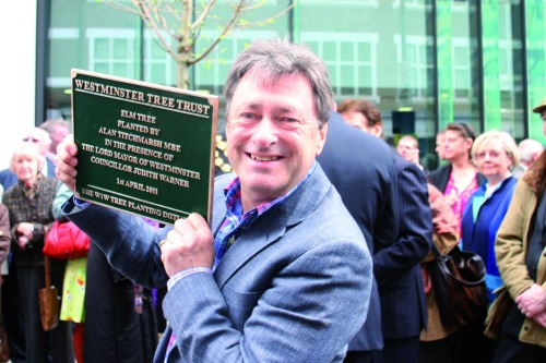 Alan Titchmarsh spoke at a tree planting ceremony in London last week - image: HW