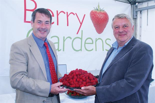 Berry Gardens: chair Brooks (left) and managing director Marston