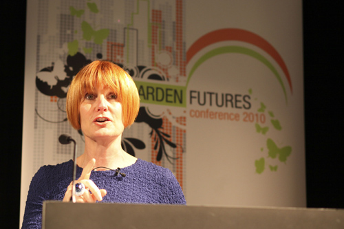 Mary Portas at the HTA Garden Futures Conference - image: HTA