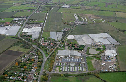Aerial view of Beverley Garden Centre - image: Klondyke