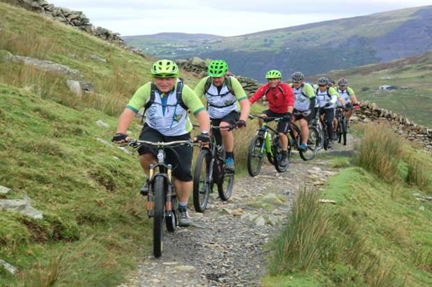 The Peakers' mountain bike team cycled 759km, the equivalent of climbing Mount Everest
