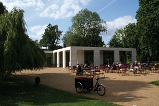 An unapologetically modern Carew St John-designed cafe forms art of the restored Chiswick House and Gardens - photo: HW