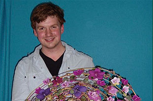 Joe Massie, assistant creative director, Springbank Flowers - image: Springbank Flowers