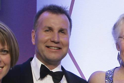 Planters Garden Centre director Gerald Ingram at the Garden Retail Awards 2009 - image: HW
