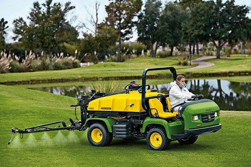 Turf pesticides - identifying problems and responding swiftly are key to keeping turf healthy - image: John Deere