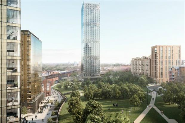 Green space is central to Angel Meadows design. Image: 5plus Architects