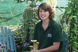 Fay Dyke, nursery assistant, Hanging Gardens Nursery  - image: Hanging Gardens Nursery