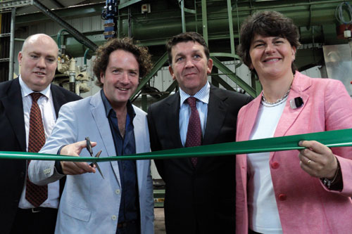 Diarmuid Gavin (second from left) at Westland's Dungannon factory - image: HW