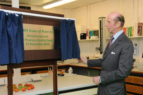 HRH the Duke of Kent unveils a plaque to mark the opening of the PQC - image:EMR