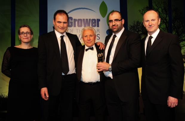NFU's Sarah Dawson, the team from F and T Schembri, and Fred MacAulay