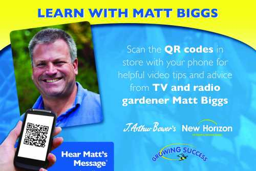 Gardeners' Question Time's Matt Biggs presents the QR code videos for Sinclair - image: William Sinclair