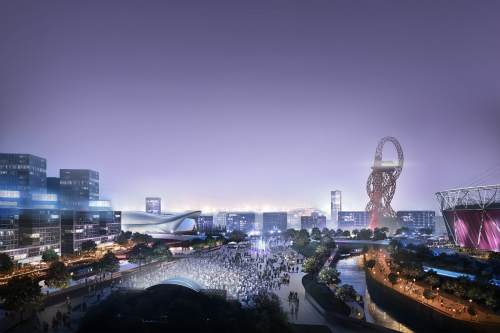 Vision for the 2012 Olympic park - image: OPLC
