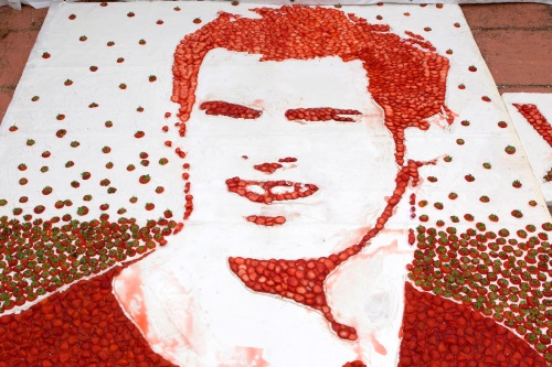 Andy Murray strawberry mosaic - image:Tesco
