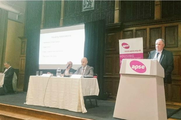 Paul Naylor speaking at the event. Image: APSE Events