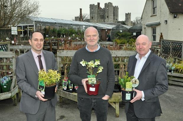 Martin Stewart (centre) with (left) Darren Valet and Mark Johns, both of accountants PKF Francis Clark