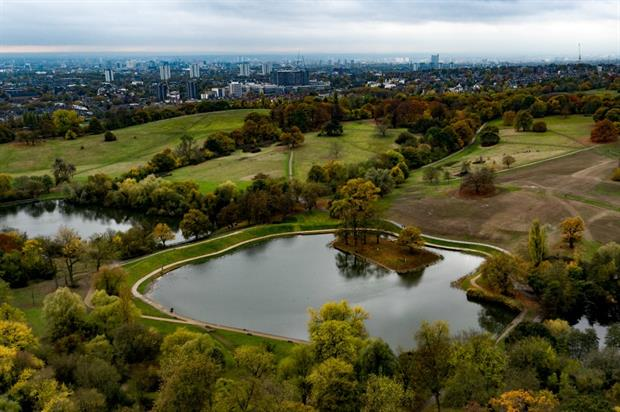 Aerial view of the Model Boating Pond. Image: City of London Corporation