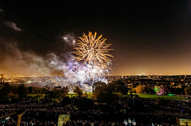 40,000 people enjoyed this year's display. Picture: Alexandra Palace and Park