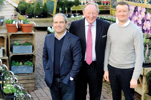 Dobbies chiefs (left to right): chairman Bracey, chief executive Marshall and chief finance officer Graeme Jenkins - image: © Colin Hattersley Photography
