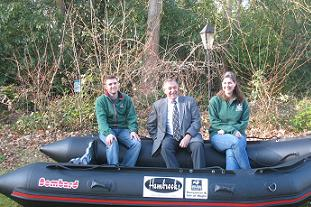 Norman Hambrook has sponsored a Wildlife Trust boat Pic: Hambrook Landscapes