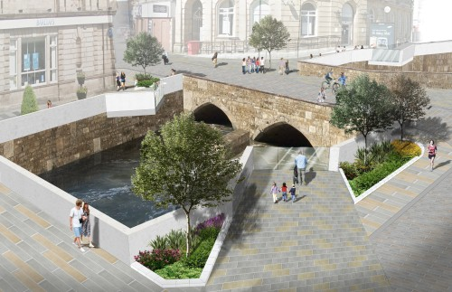 Riverside planting and an opening up of public areas key to winnning design