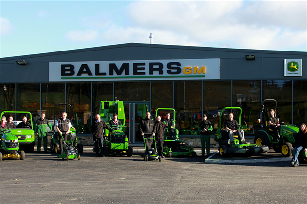 The Balmers GM team outside the new building
