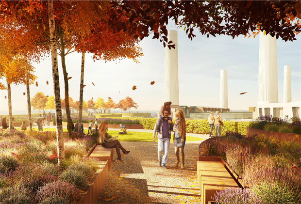 A CGI of how the garden could look in the autumn