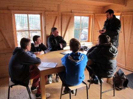 Adam Frost teaching pupils at Belmont