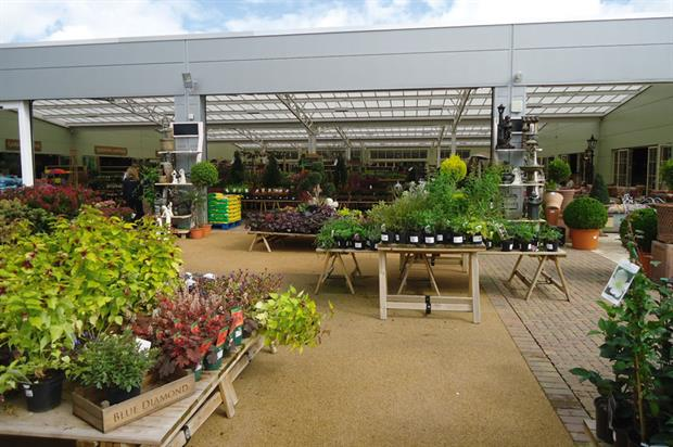 Redfields Home of Garden & Living: covered planteria is linked on three sides to gardening, café and home department with open planteria behind - image: HW